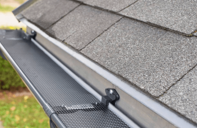 gutter guard on roof